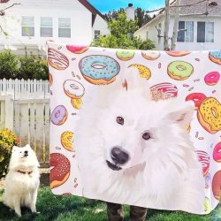 Custom Dog Blankets Personalized Pet Photo Blankets Painted Art Portrait