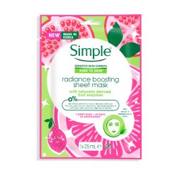 Simple® Skinradiance boosting sheet mask