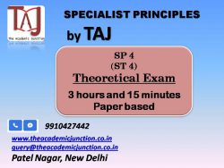 SP4_Ch 4 and 11 By Silky Lamba | Experienced Faculty | Actuarial Science