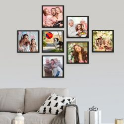 Customized Wall Pictures Black Classic Photo Frame Collage Gift
