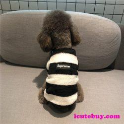 冬用 犬服 シュプリーム ドッグウェア タンクトップ Supremeボックスロゴパーカー 小型犬 中型犬 大型 ...