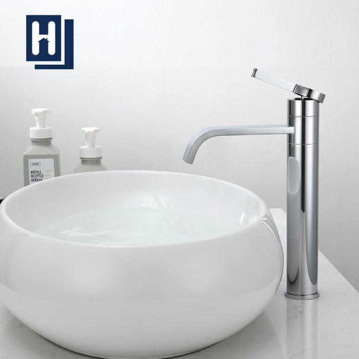 Homelody 360 ° drehbarer Wasserfall waschbecken armatur Hohe Einhebel Badarmatur Chrom Messing f ...