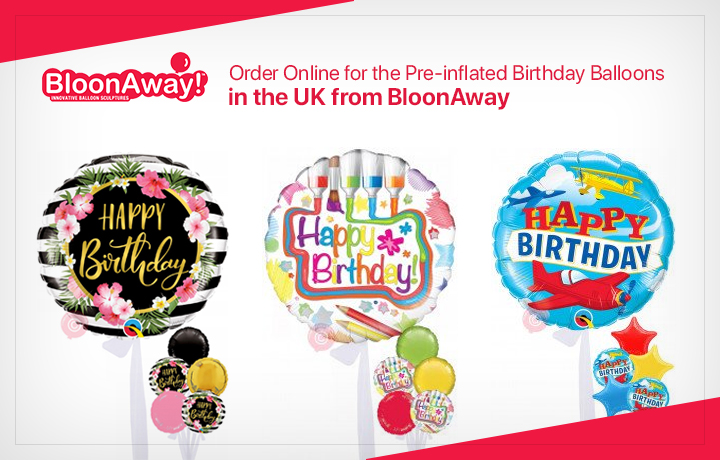 Order Online for the Pre-inflated Birthday Balloons in the UK from BloonAway