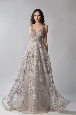 Elegante Abendkleider V Ausschnitt | Abendkleid mit Spitze