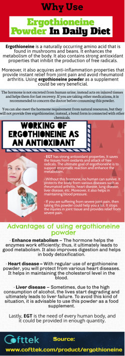 Advantages of using ergothioneine powder