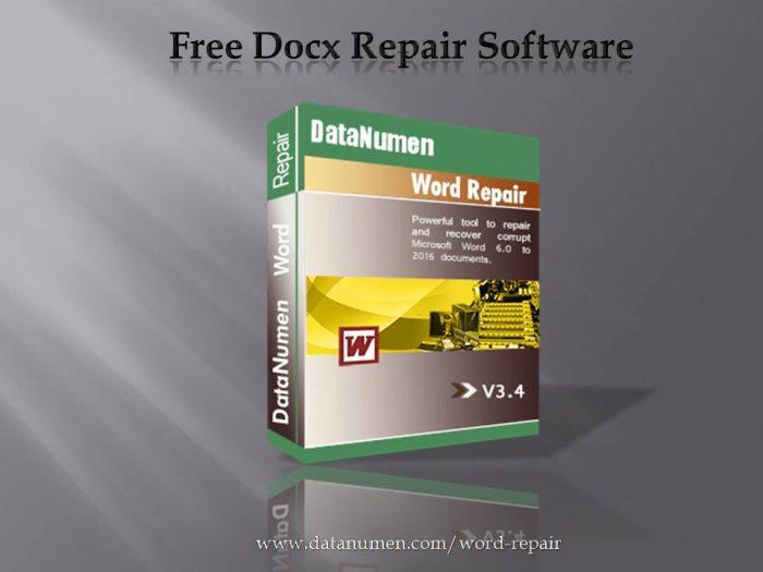 Free Docx Repair Software
