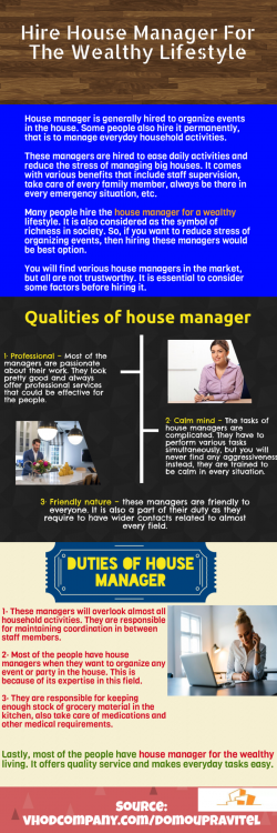 Find a suitable house manager company