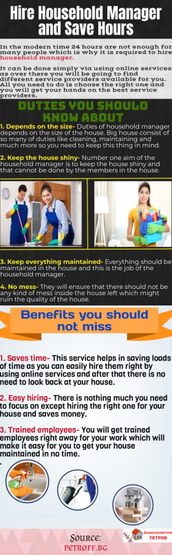 Important Details To Hire the best household manager