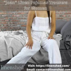 """Joan"" Linen Pajamas Trousers for Women – Linenshed"