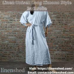 Linen Unisex Long Kimono Style Bathrobe – Linenshed