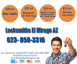 Locksmiths El Mirage AZ (623) 850-3316