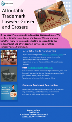 Affordable Trademark Lawyer-Groser and Grosers