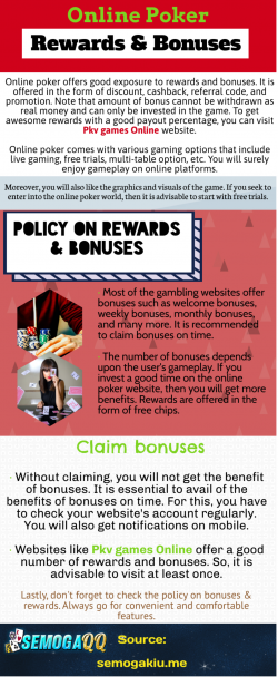 Online Poker-Rewards & Bonuses