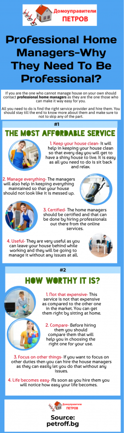 The Need Of Professional Home Managers