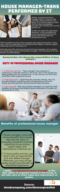 Duty of professional house manager