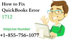 Know easy fixes for QuickBooks Error 1712 at +1-855-756-1077