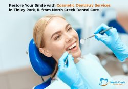 Restore Your Smile with Cosmetic Dentistry Services in Tinley Park, IL from North Creek Dental Care