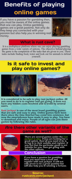 Rust jackpot-Convenient features that offers good gameplay