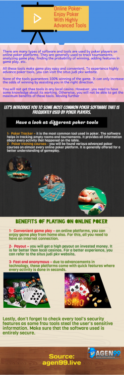Online Gambling Is Advantageous For Gamblers
