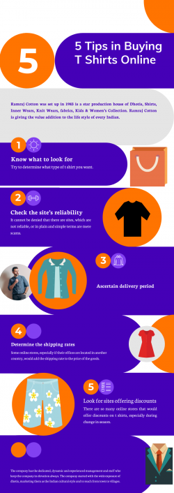 5 Tips in Buying T Shirts Online