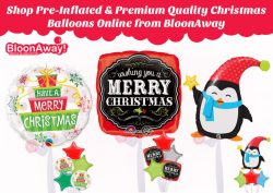 Shop Pre-Inflated & Premium Quality Christmas Balloons Online from BloonAway