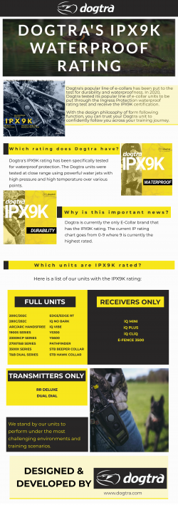 DOGTRA'S IPX9K WATERPROOF RATING