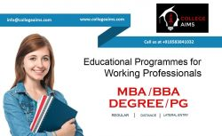 Online MBA Admission for Working Professionals