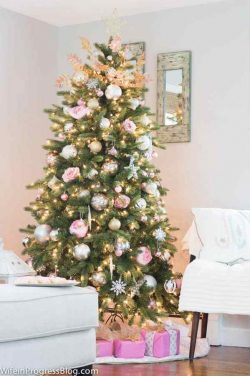 Pink Christmas Tree Decor