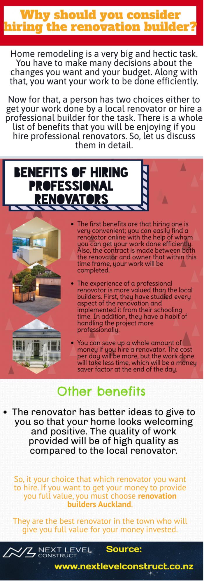 Benefits of hiring a renovation builder