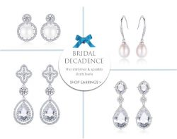 SHOP BRIDAL DECADENCE EARRINGS AT THE WEDDING GARTER