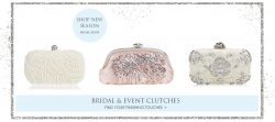SHOP BRIDAL & EVENT CLUTCHES AT THE WEDDING GARTER