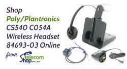 Shop Poly/Plantronics CS540 C054A Wireless Headset 84693-03 New from The Telecom Shop PTY Ltd