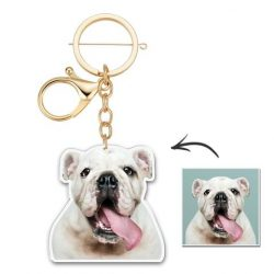Custom Photo Keychain Unique Design Personalized Gift Cute