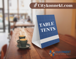 Get a Double-Sided Table Tents with Guerrilla Marketing