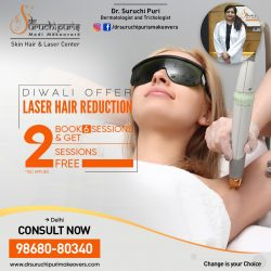 DIWALI OFFER ON LASER HAIR REDUCTION IN DEHLI – DR. SURUCHI PURI