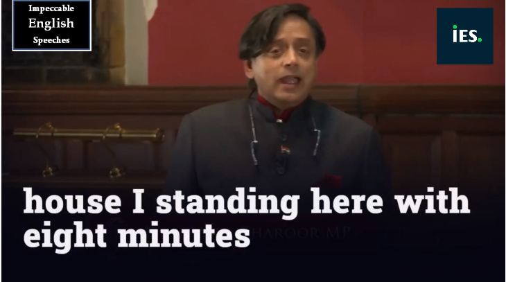 English Speech-Shashi Tharoor