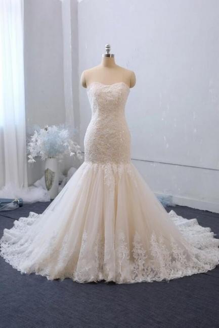 Elegante Brautkleid Meerjungfrau Spitze | Hochzeitskleider Gunstig