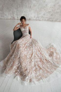 Designer Brautkleider A Linie | Spitze Hochzeitskleid Umstandmoden