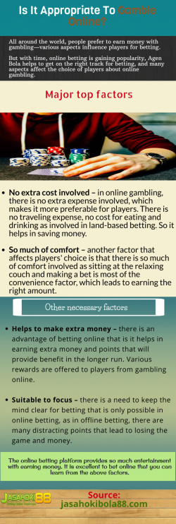 Favorable for players to gamble online