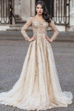 Wunderschone Boho Hochzeitskleid | Brautkleider Lange armel
