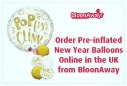Order Pre-inflated New Year Balloons Online in the UK from BloonAway