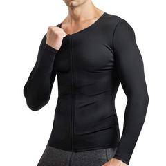 Brabic Men Compression Shirts Long Sleeves with Zipper – BRABIC