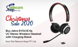 Buy Jabra EVOLVE 65 UC Stereo Wireless Headset with Charging Stand from The Telecom Shop PTY Ltd