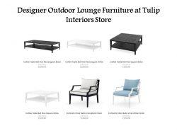 Designer Outdoor Lounge Furniture at Tulip Interiors Store