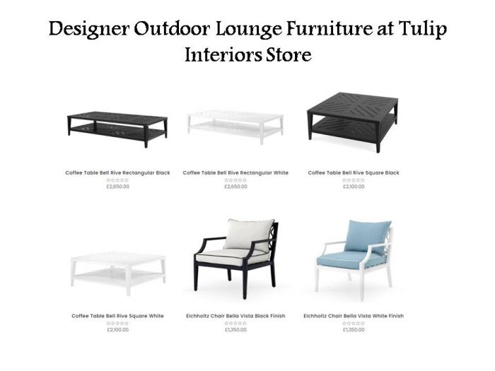 Designer Outdoor Lounge Furniture at Tulip Interiors Store