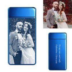 Scrub Black | Custom Engraved Photo Lighter | Electric Cigarette Lighter | For Father