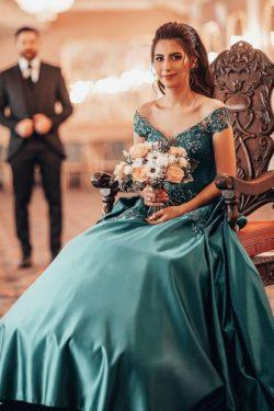 Elegante Abendkleider Grun | Abiballkleider Lang Gunstig