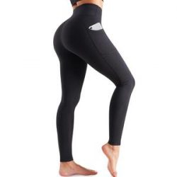 High Elasticity High Waist Yoga Pants With Pockets For Women- Nebility