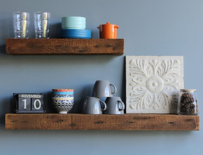 Thick Rustic Wood Shelves